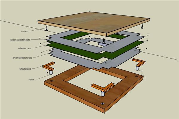DIY capacitive pressure sensor tile