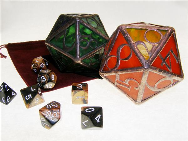 Stained glass d20s