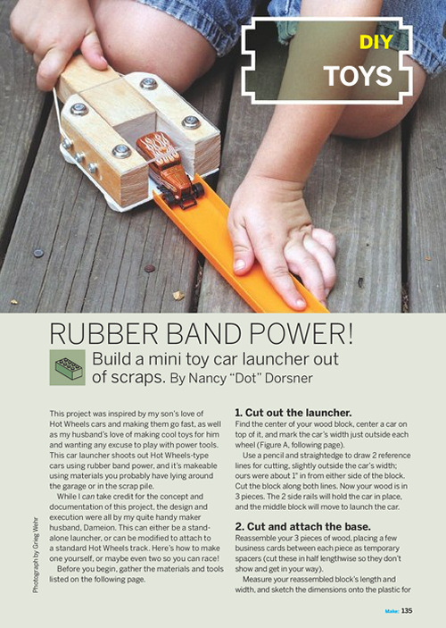 Weekend Project: Rubber Band Power (PDF)