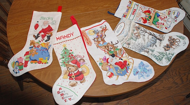 My Mom's Handmade Christmas Stockings