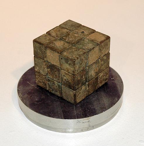 Bronze Rubik's cube