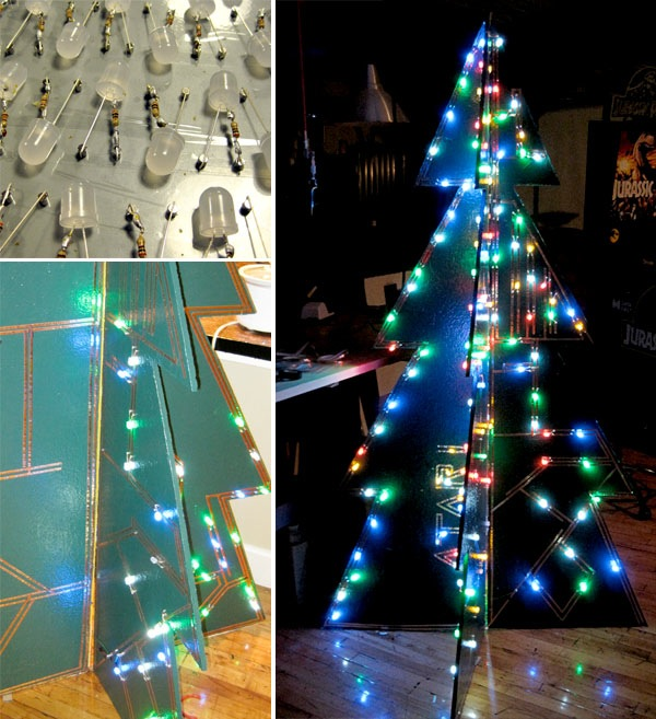 Full-scale LED Christmas tree inspired by classic kit
