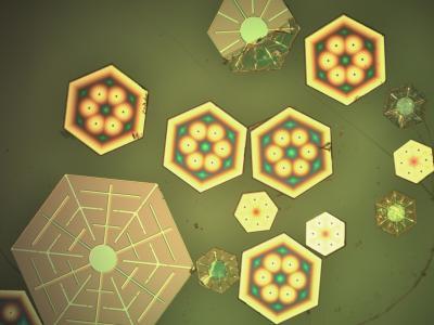 Glitter-sized photovoltaics