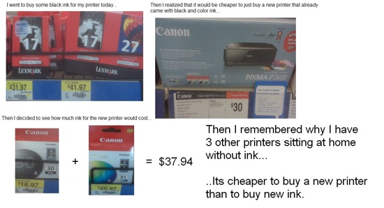 Buying a new printer instead of ink?