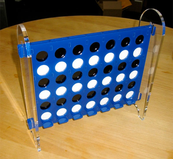 Laser-cut Connect Four game looks mighty fine