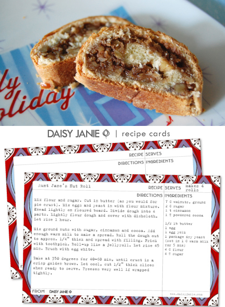 How-To: Aunt Jane's Nut Roll