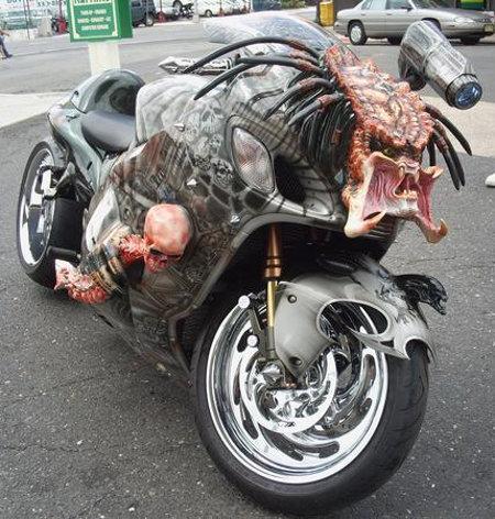 Predator-themed custom bike