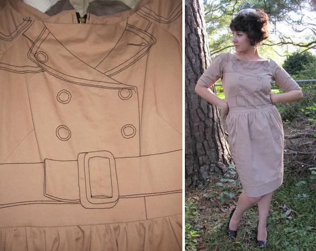 Top Stitch Trompe L'oeil Dress