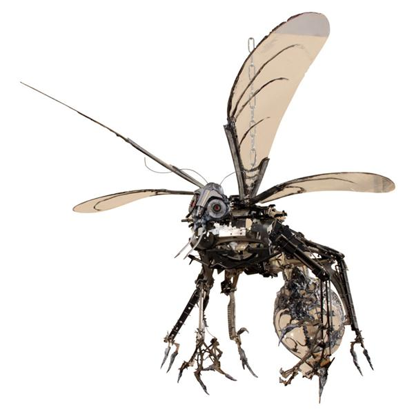Awesome wasp junk art