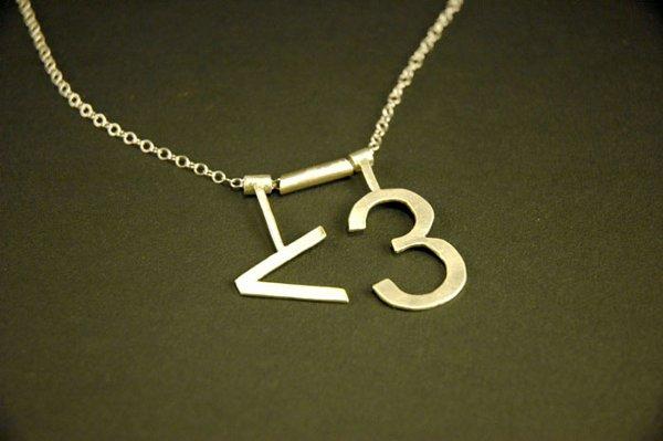 ASCII heart necklace