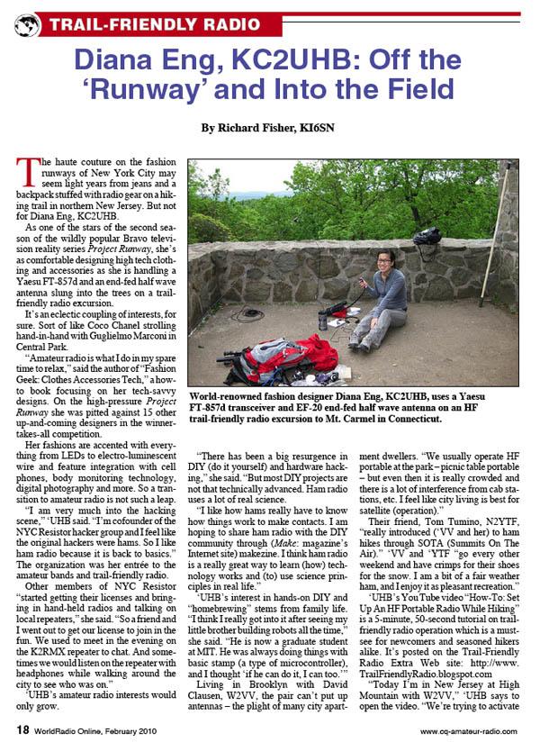 Diana Eng featured in World Radio magazine