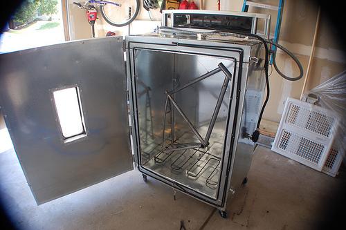 DIY powder coating oven