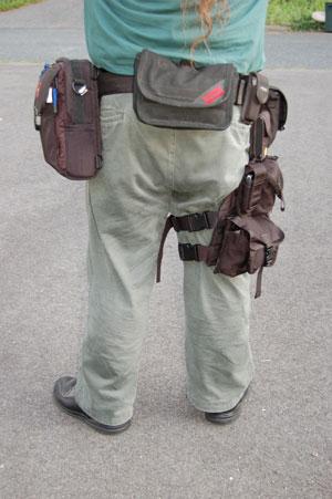 Flashback: Geared up with a gunbelt and leg holster