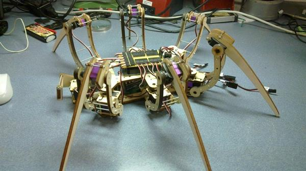 Complete hexapod part set on Thingiverse