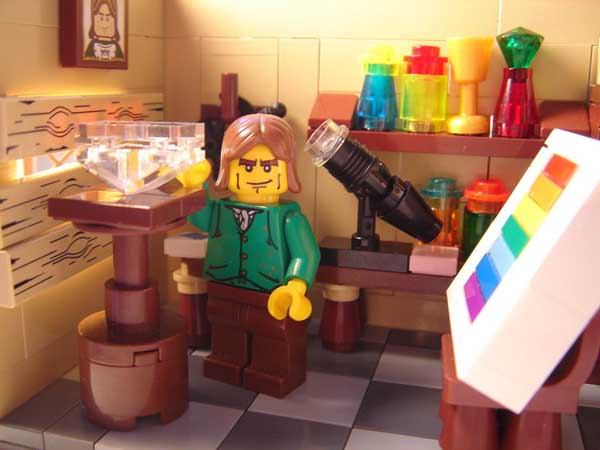 Lego Newton, apples not included