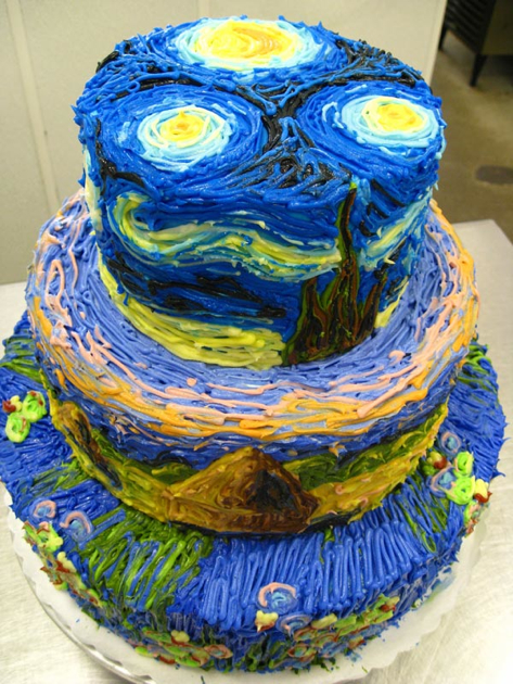 Van Gogh's Paintings as a Cake