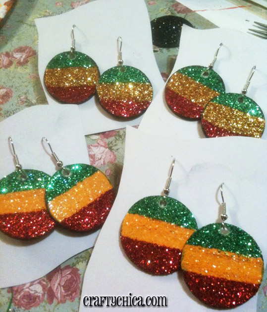 The Crafty Chica's Husband Made Glitter Earrings