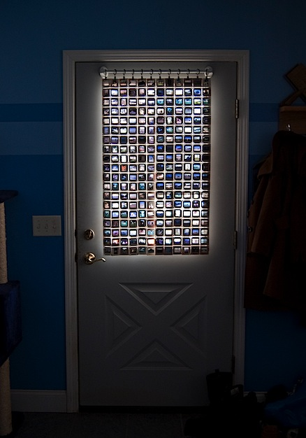 Curtain made from film slides