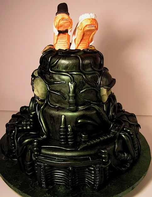HR Giger wedding cake