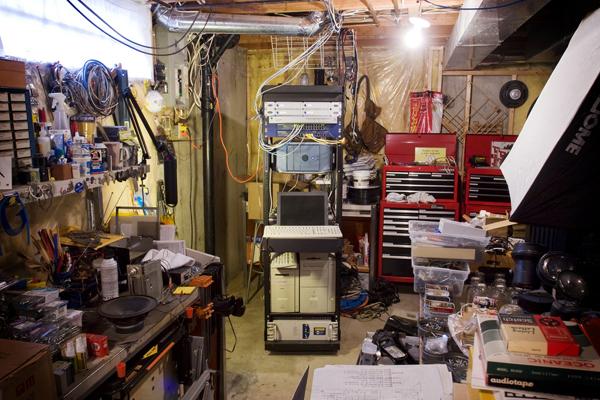Grant Hutchinson's workshop slash server room