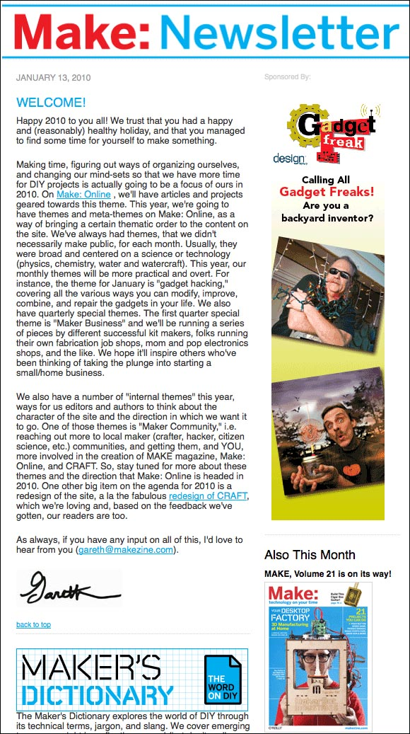 February Make: Newsletter ships tomorrow!