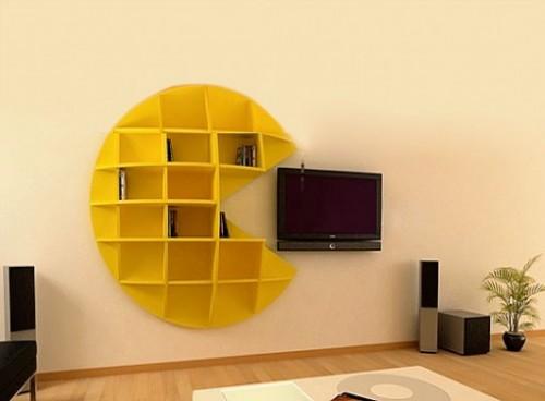Pac-Man shelves