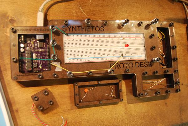 Arduino prototyping lap desk