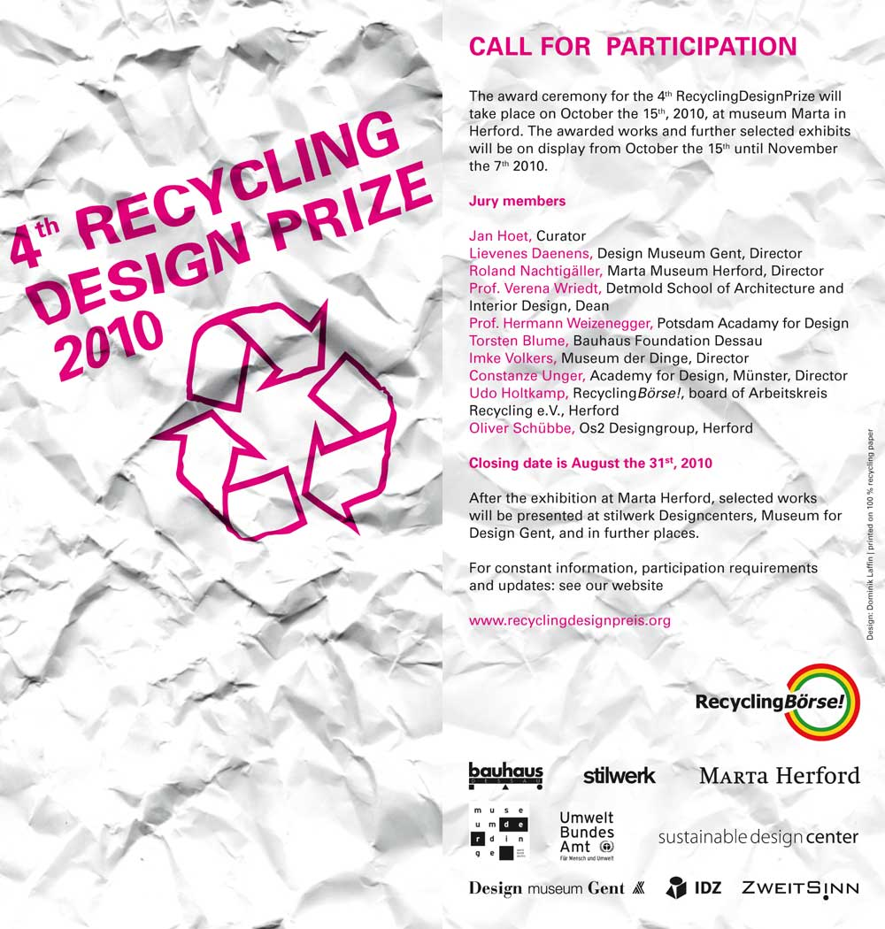 Recycling design competition