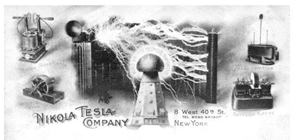 Tesla's letterhead