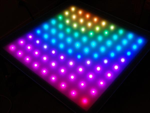 Twitter-enabled LED matrix end table