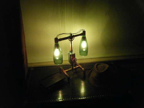 Cool glass bottle lamp