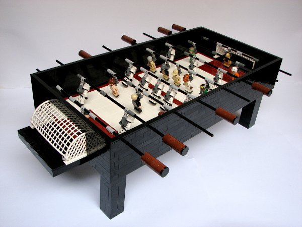 Lego Star Wars foosball table to cut epic battle short