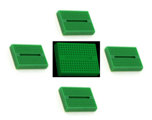 In the Maker Shed: Green Mini Breadboards