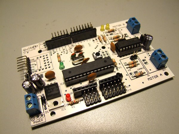 Motoruino, an Arduino-compatible robot board