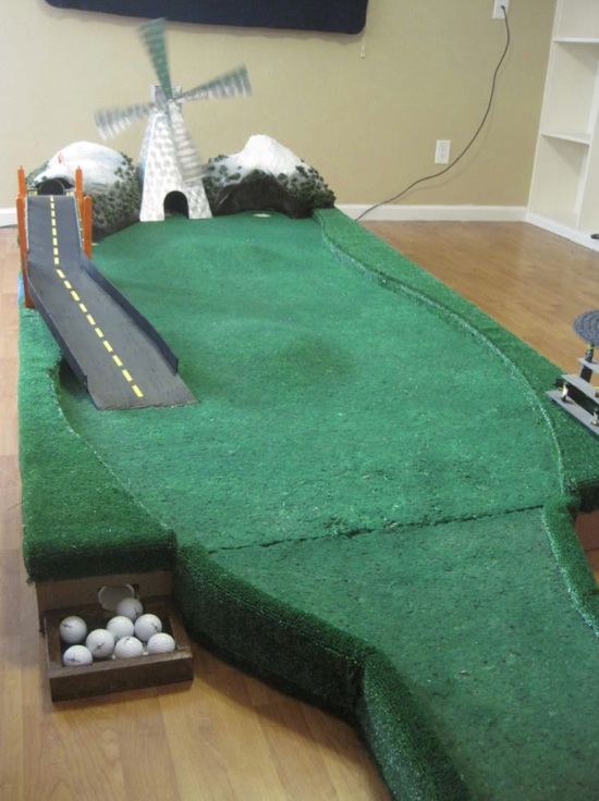 Build your own variable-terrain putting green