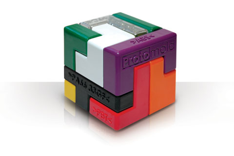 Free promotional plastic resin sampler puzzle