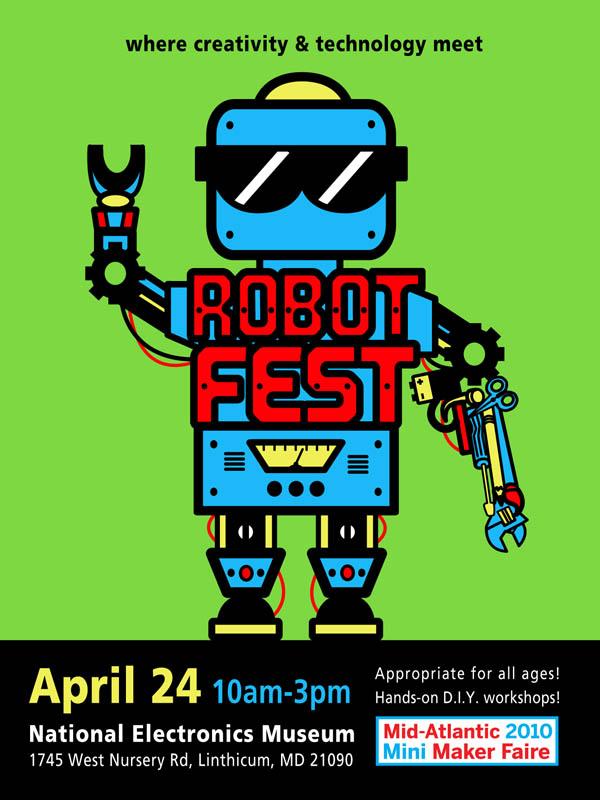 RobotFest/Mid-Atlantic 2010 Mini Maker Faire, April 24th