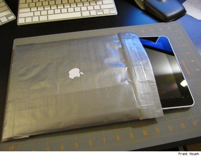 Duct tape iPad sleeve