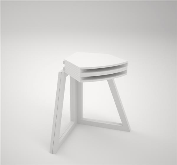 Radically folding deployable table design