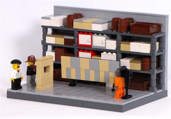Mythbusters lego diorama