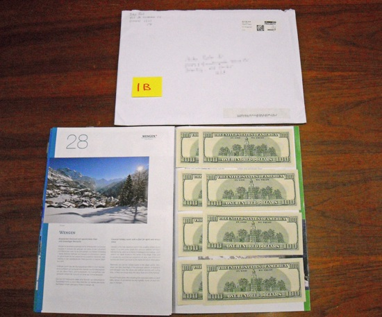 Mailing yourself money to get out of paying taxes hack (doesn't work)