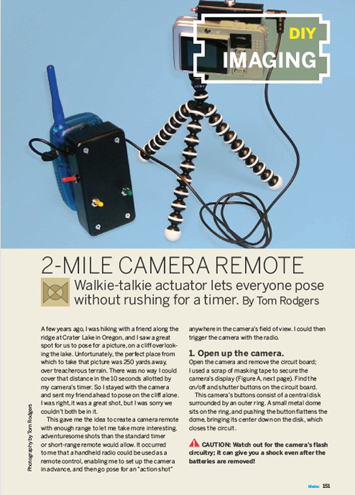 Weekend Project: 2-Mile Camera Remote (PDF)