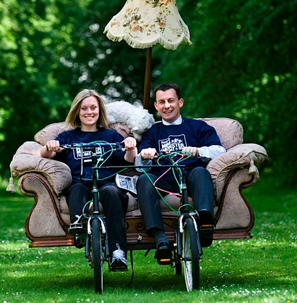 Couch bikes bring comfort to a new level