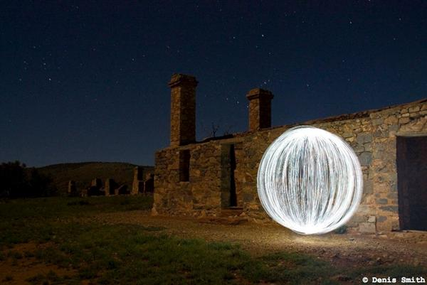 """""""Ball of Light"""" light graffiti"""