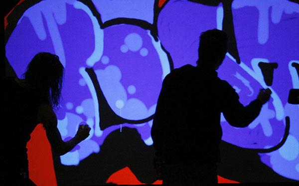 Maker Faire: Digital Graffiti Wall