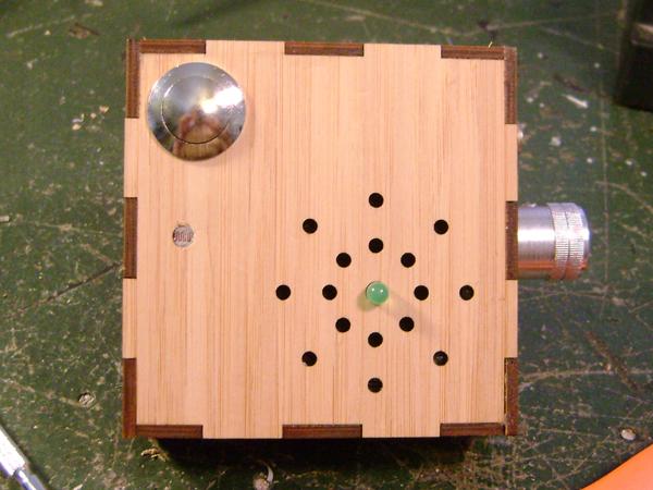 "Handmade ""optical theremin"""