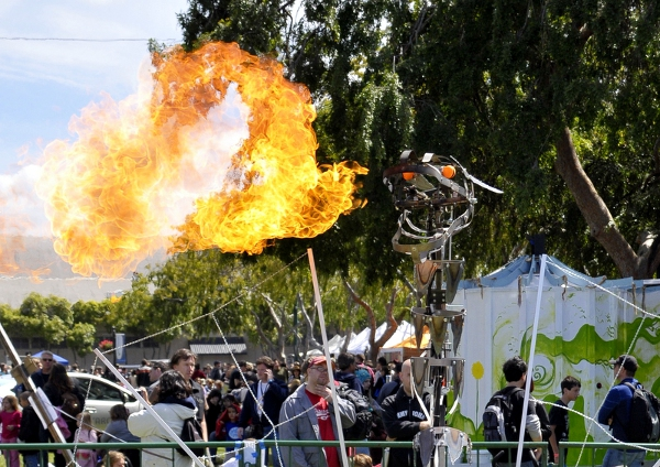 Fire-breathing robot dragon