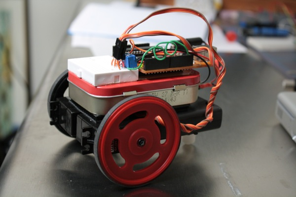 Maker Faire Arduino project: MintyBot prototype