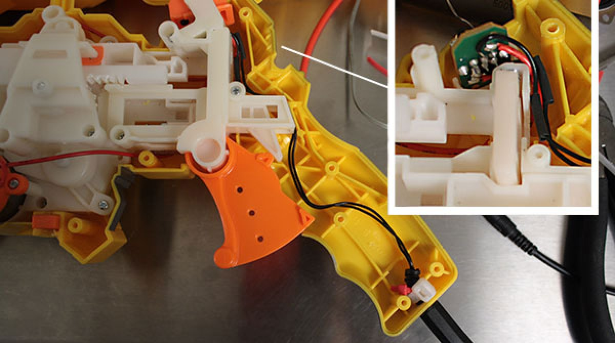 Arduino Nerf sentry gun build: wiring the trigger | Make: