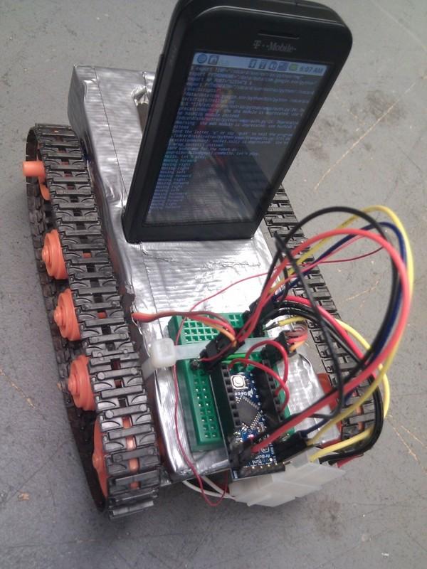Cellbot runs on internal battery